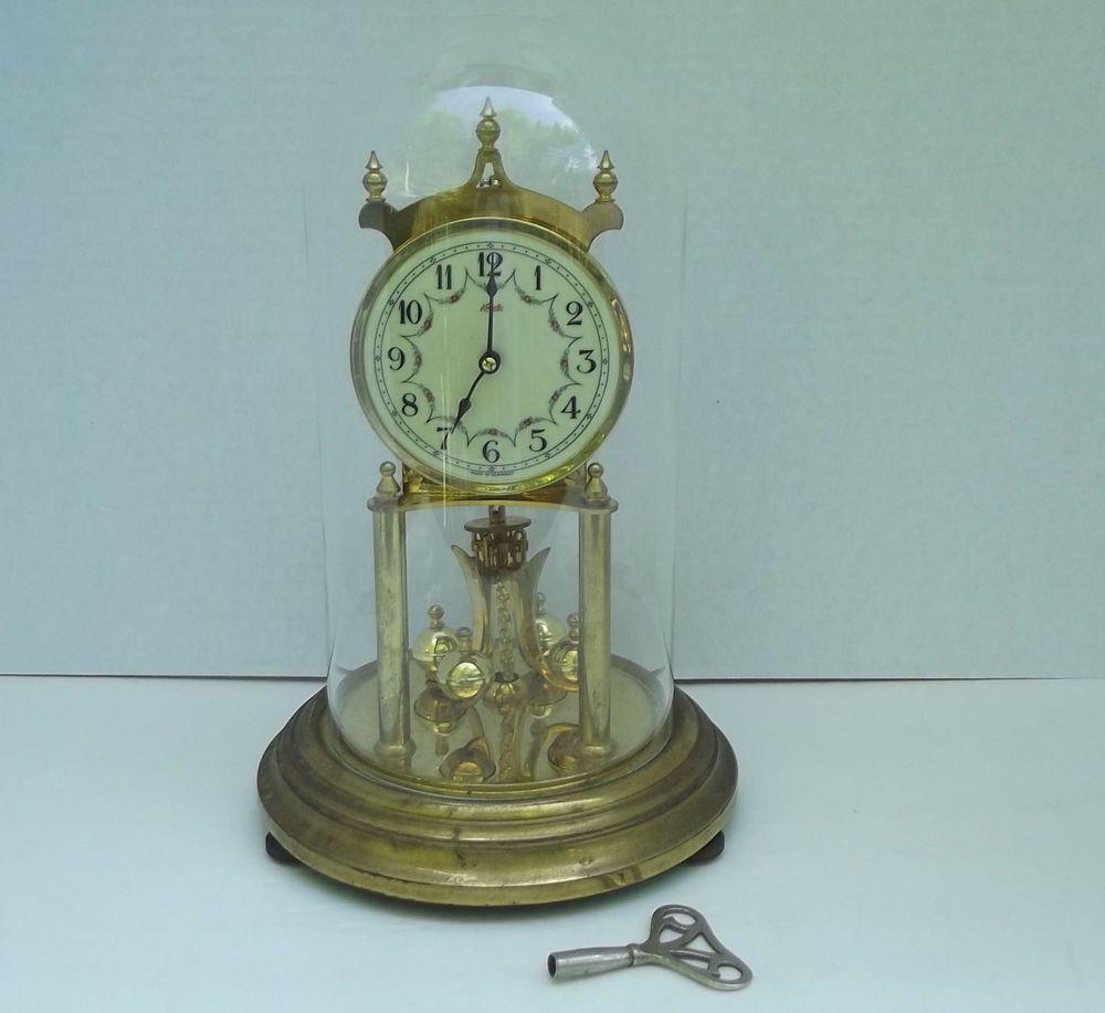 Vintage Kundo 400 Day Anniversary Clock Kieninger And Obergfell With Key Anniversary Clock Clock Vintage Clock