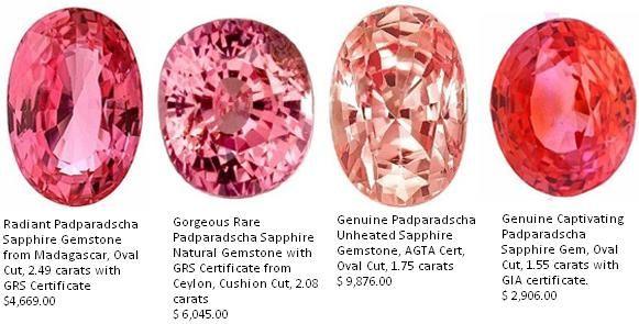 Resultado de imagen para padparadscha gemstones