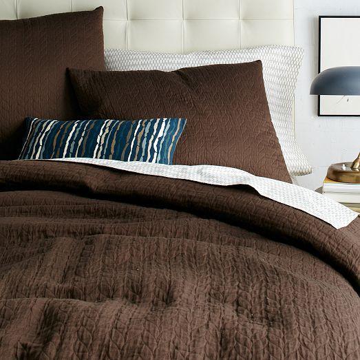 Organic Braided Matelasse Duvet Cover Shams Linen Duvet Duvet