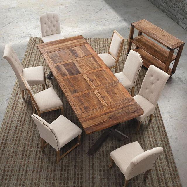 Europeos-y-americanos-estilo-pastoral-madera-comedor-retro-hierro ...