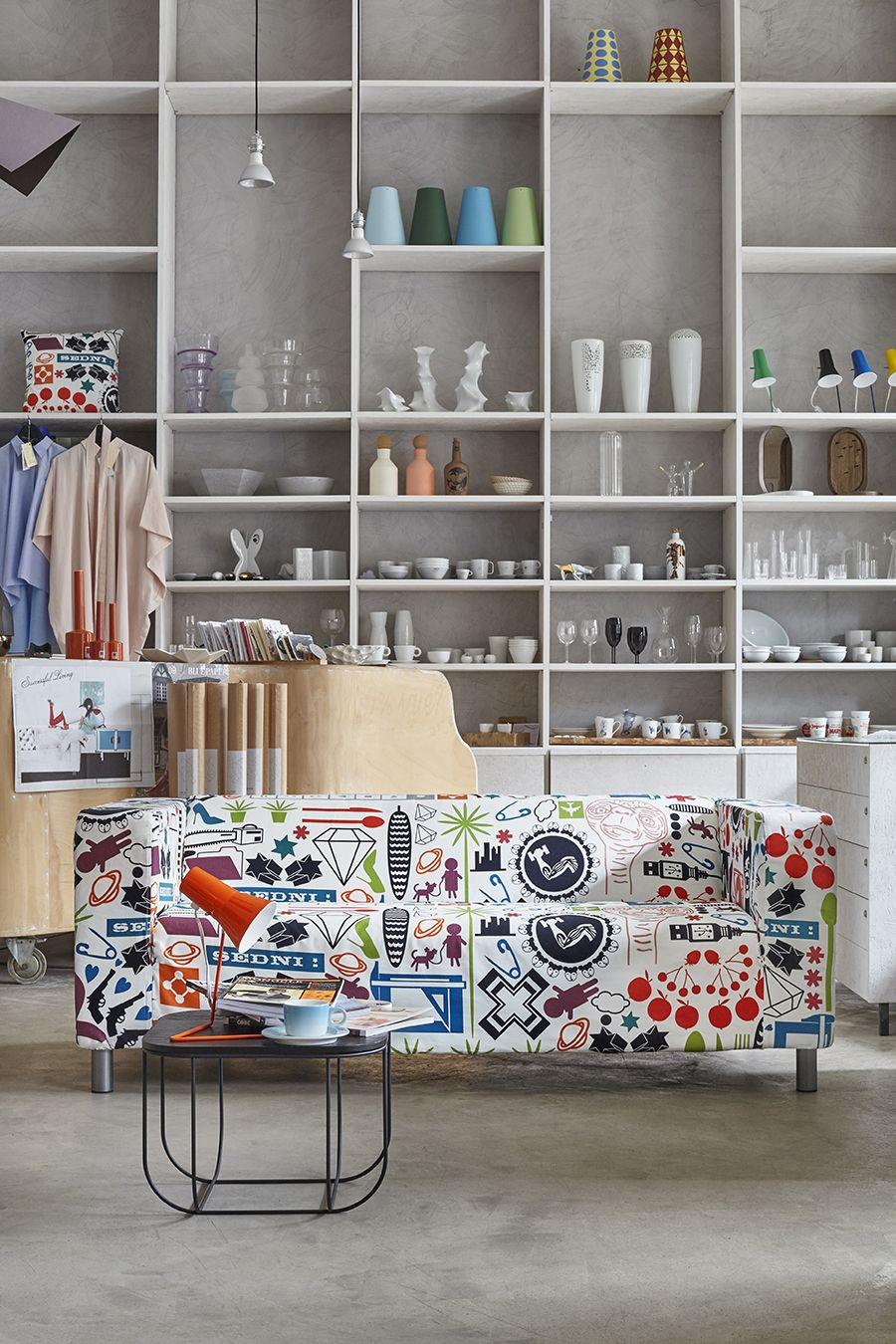 ARTEFLY Ikea Klippan cover TIME FLIES - interior styling / funny and ...