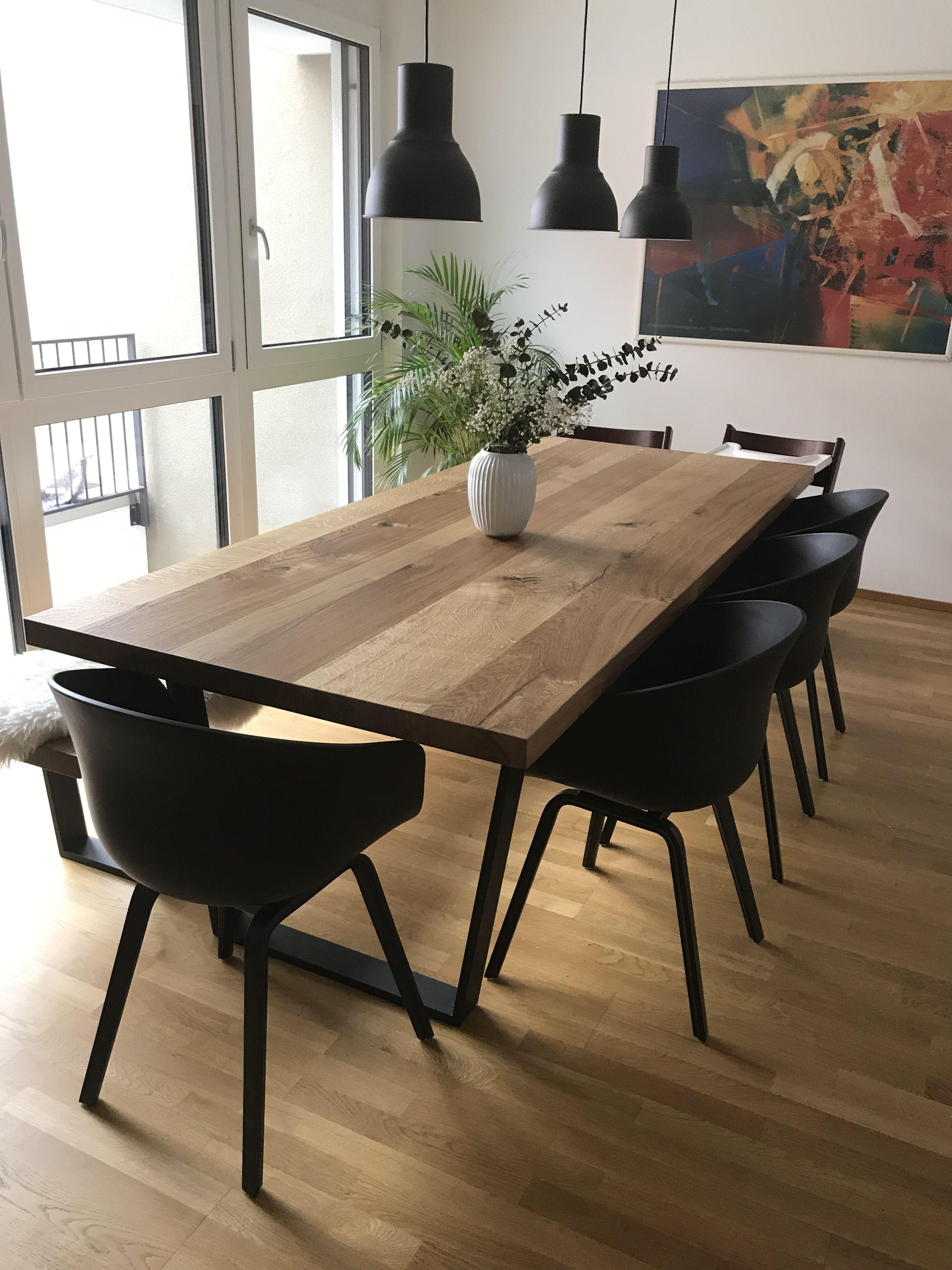 Esstisch mit schwarzen Stühlen design | Esstisch, Esstisch