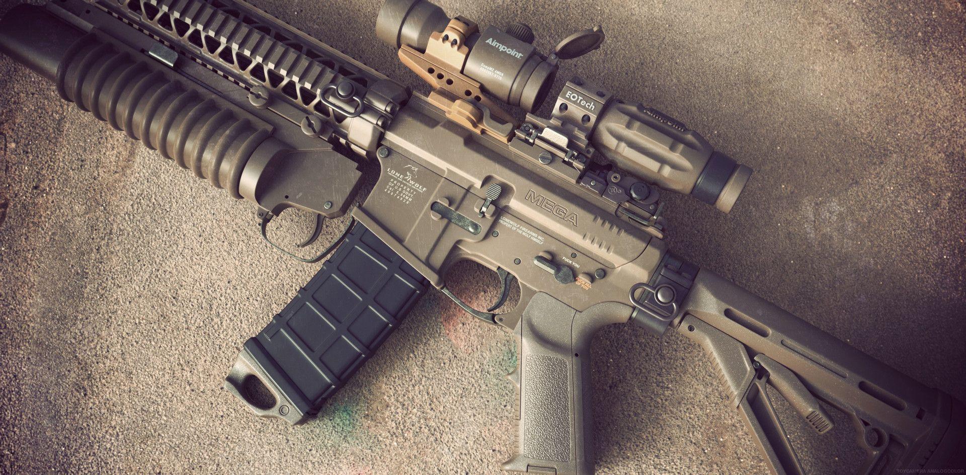 ArtStation - Tan Mega Arms AR15, Reno Levi