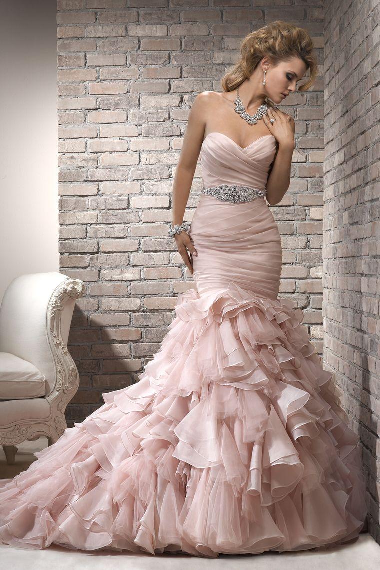 Hot Selling Wedding Dresses Trumpet/Mermaid Sweetheart Chapel Train ...