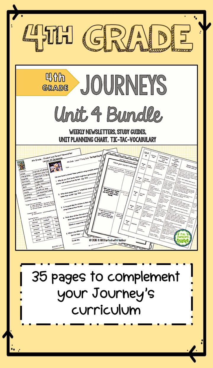 4th Grade Journeys Unit 4 ALL RESOURCES | Vocabulary words ...