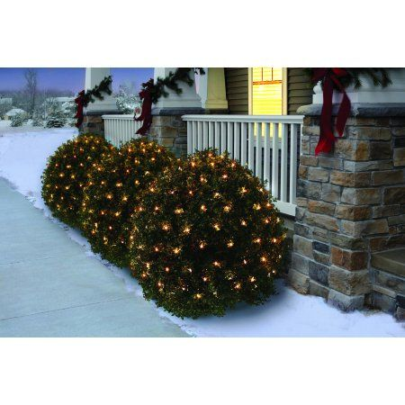 christmas blue led net lights 6 x 4 indoor outdoor holiday lighting decoration 24 sq ft green wire you can find more details by visiting the image link