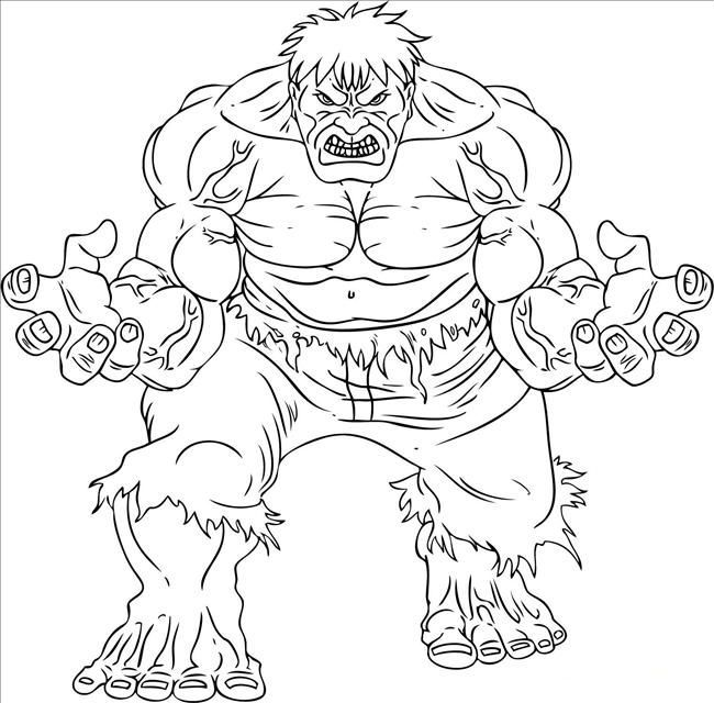 Hulk Very Angry | Hulk Coloring Pages | Pinterest | Kids net