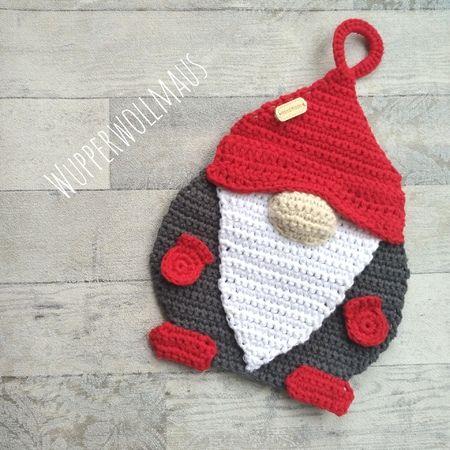 Wichtel - Topflappen #crochetpotholderpatterns