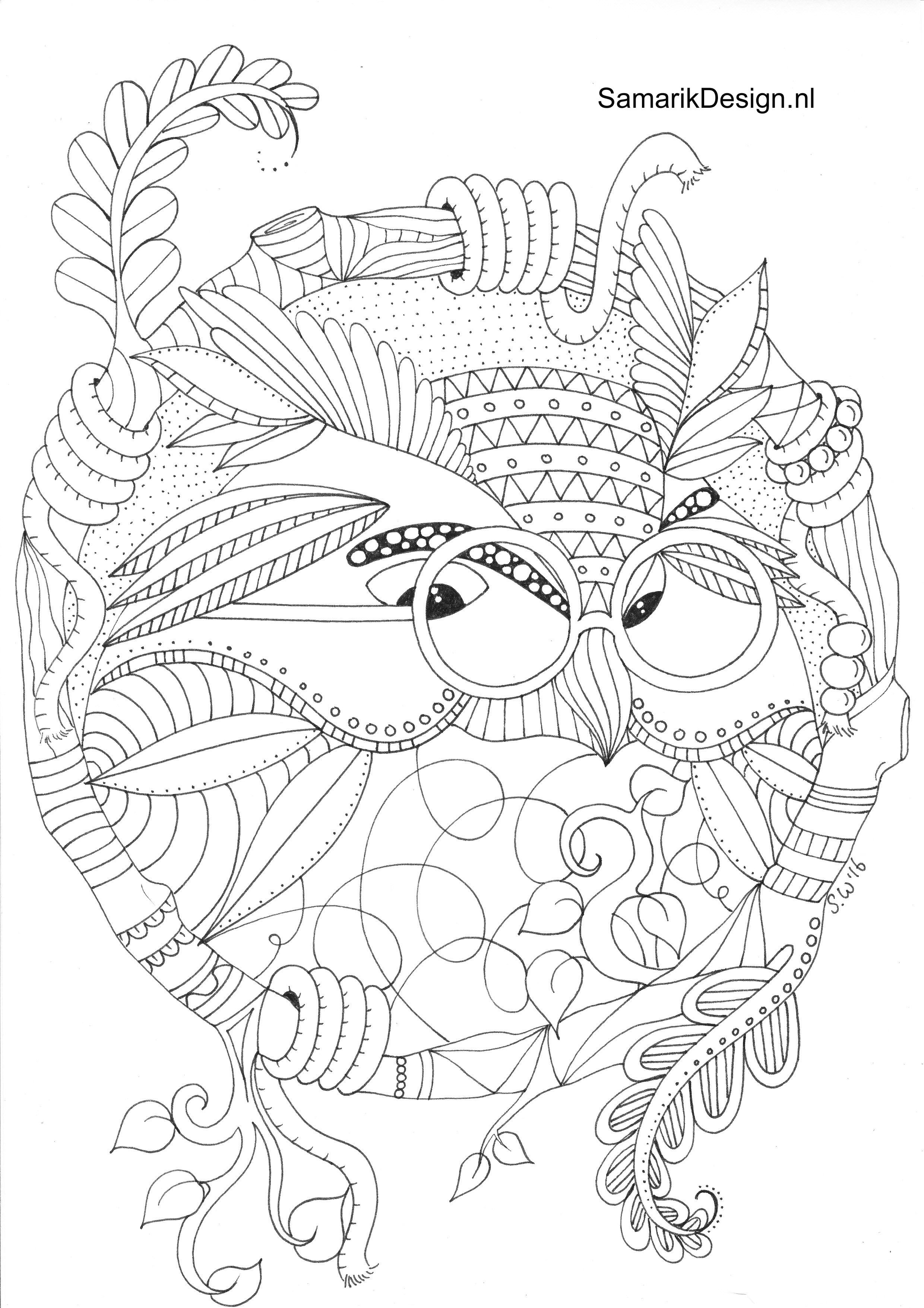 Owl Doodle Coloring Page Owl Coloring Pages Animal Coloring