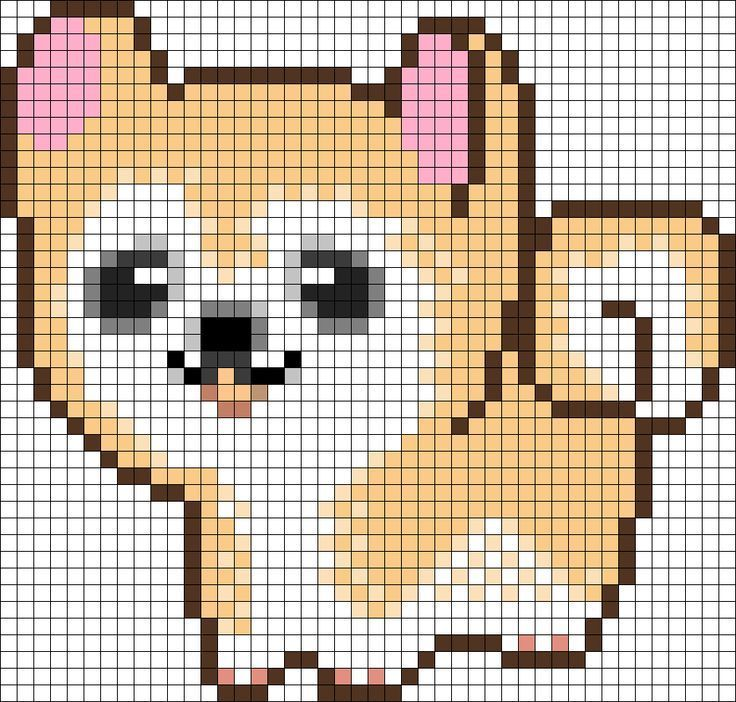 Elegant Pixel Art Kawaii With Grid Junk Food   Google Minecraft Pixel Art Grid  Maker Anime Ideas