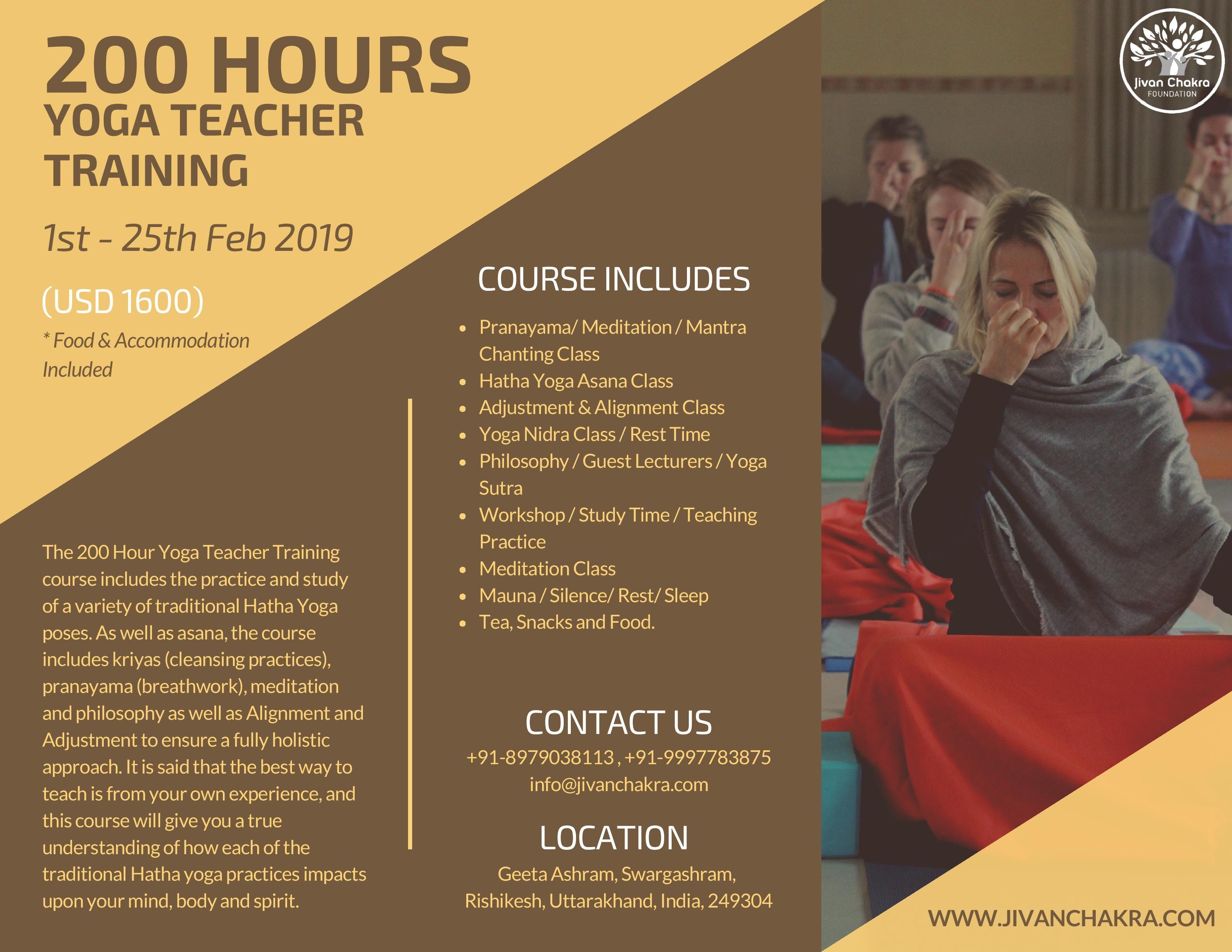 200 Hour Yoga Teacher Training Course In India At Jivan Chakra Foundation Ris 200 Hour Yoga Teacher Training Yoga Teacher Training Hatha Yoga Teacher Training