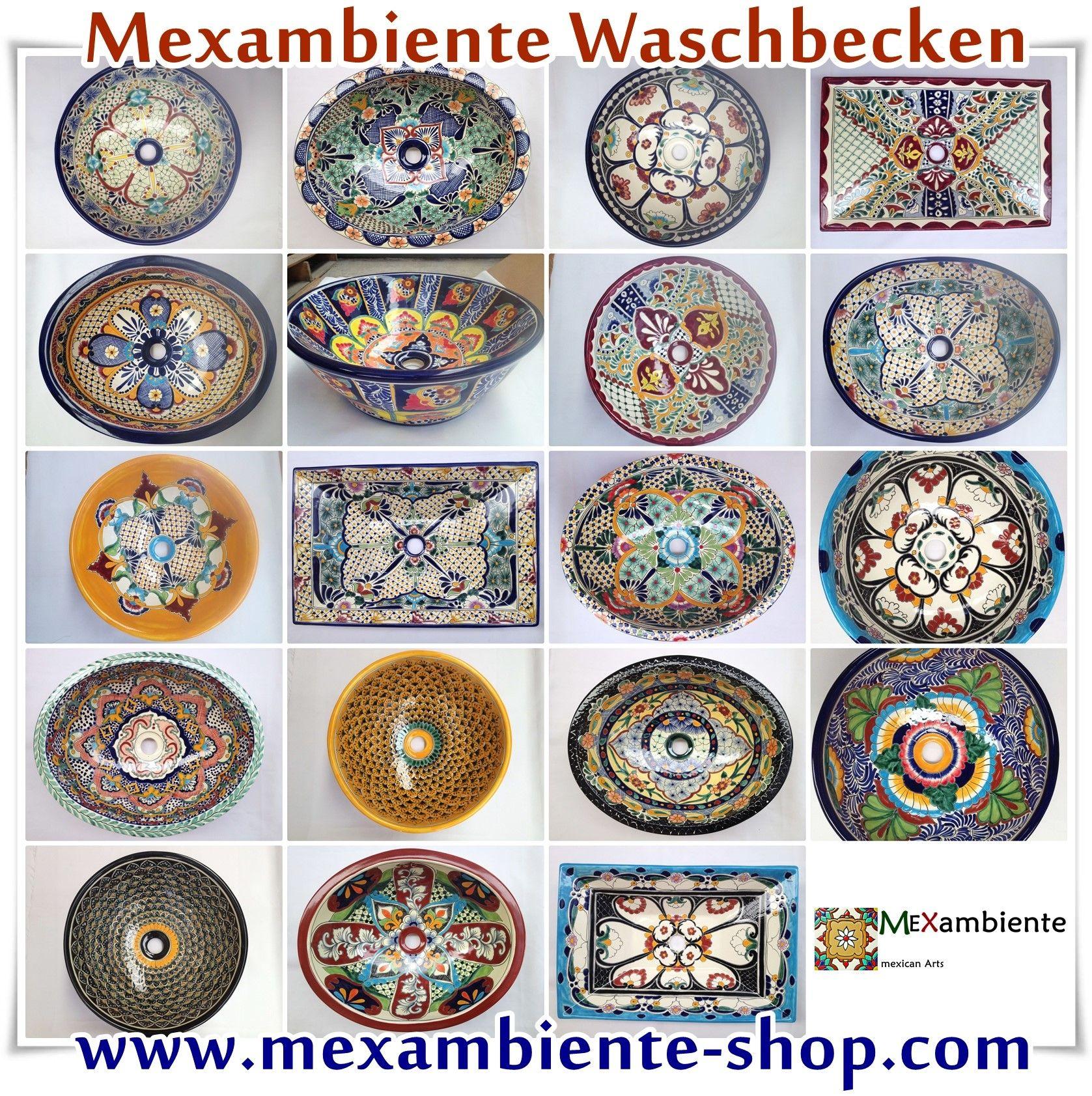 Elegant Bunte Waschbecken Galerie Von Mexikanische 2014 Von Mexambiente - Waschbecken, Handbemalte
