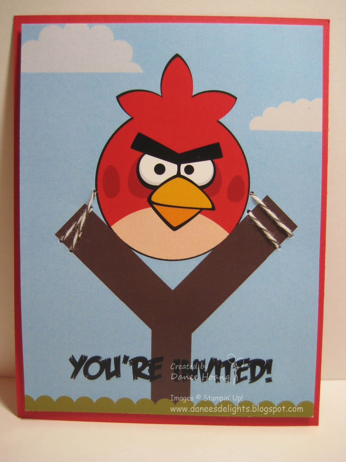 Danee\'s Stampin\' Delights: MDS - Angry Birds Party Invitations ...