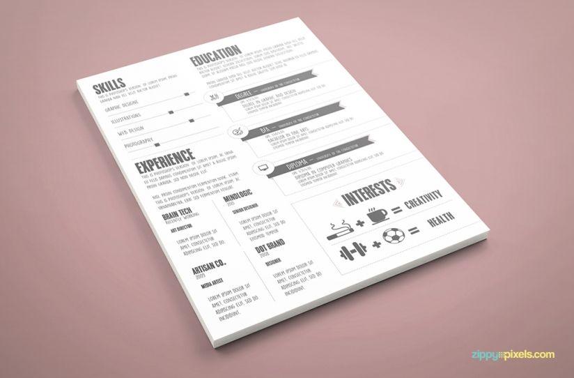 Graphic Designer Resume Template - PSD \ AI ZippyPixels Design - resume template psd