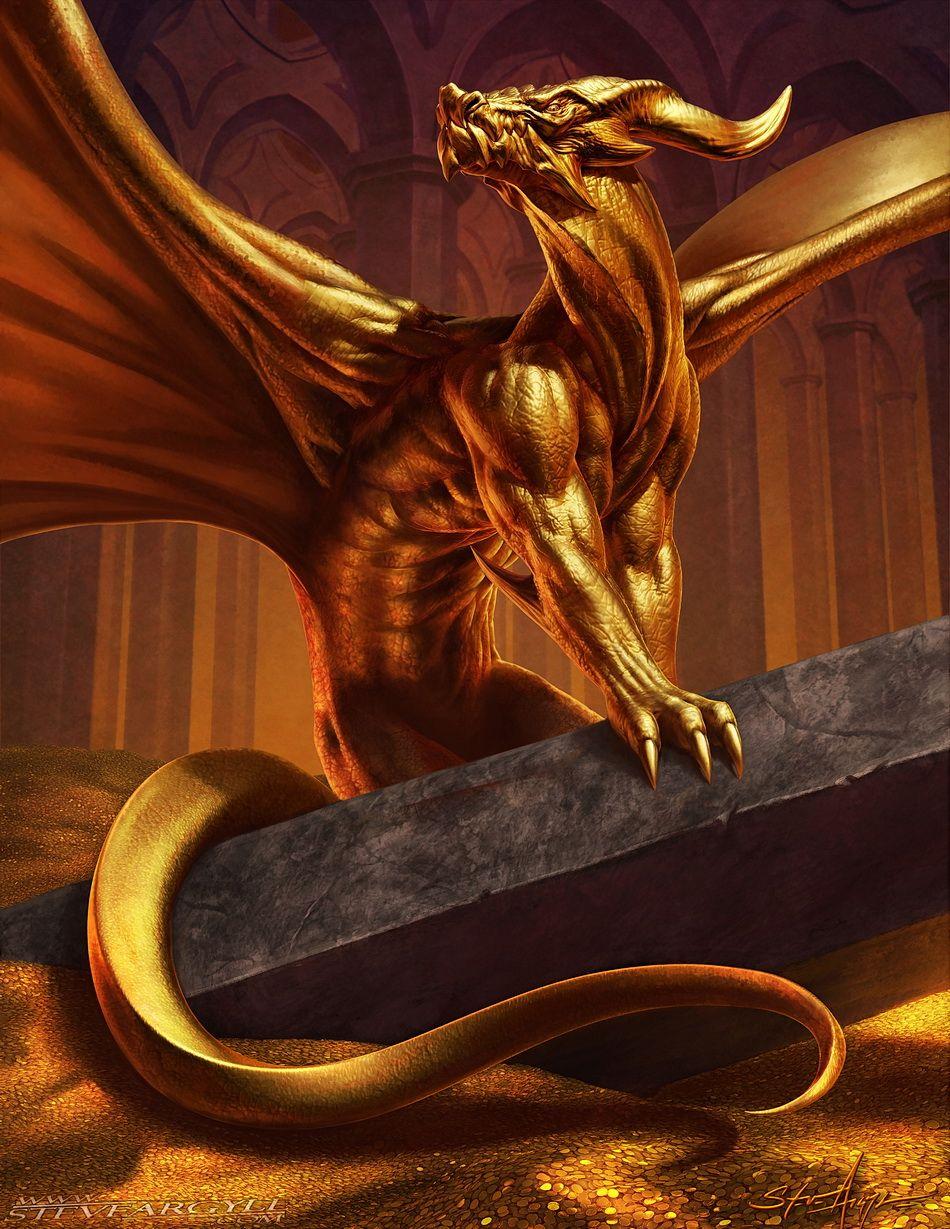 Aurum, Gen Con 50 Golden Dragon by SteveArgyle   Creatures in 2019