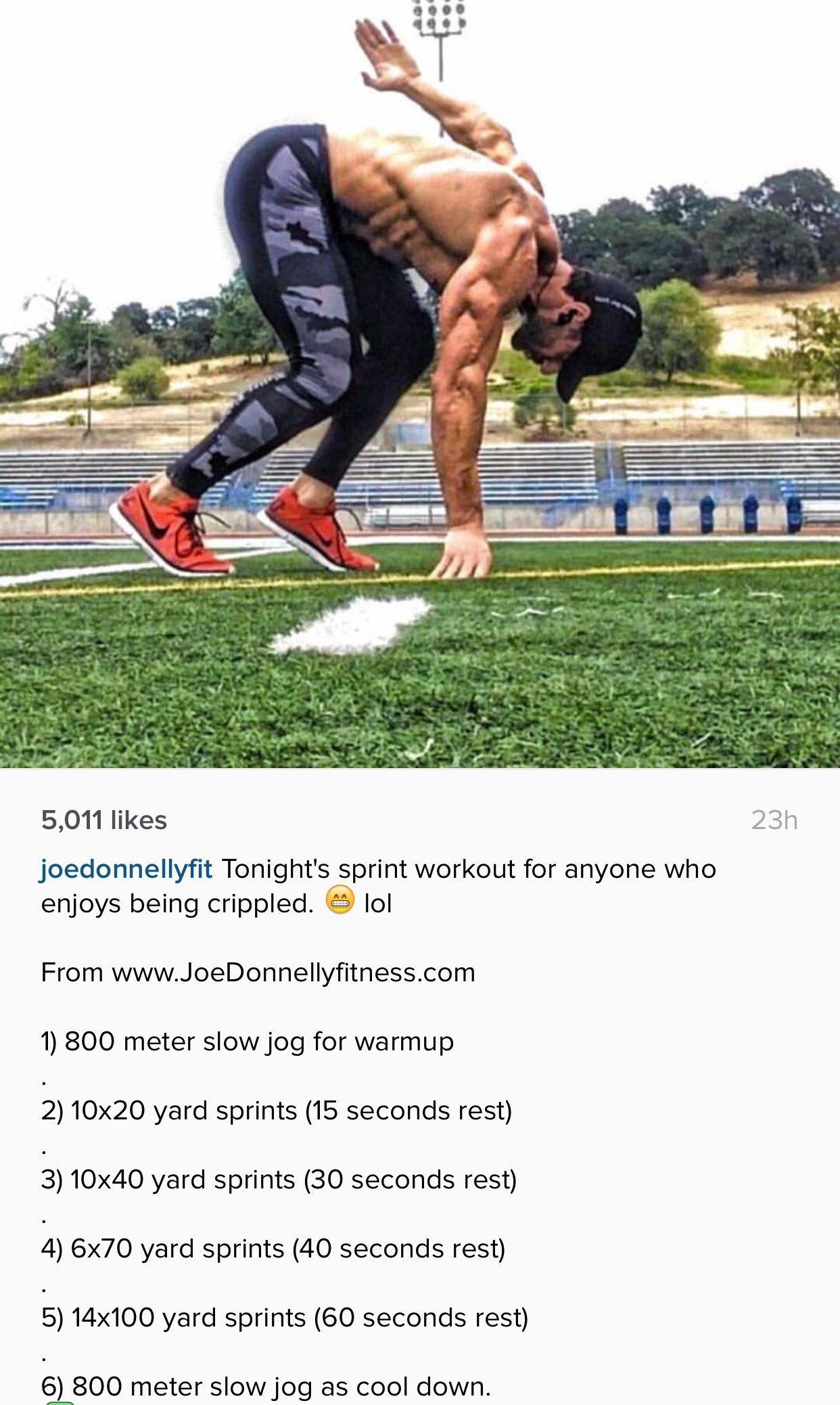 Joe Donnelly sprint workout   Fitness   Pinterest ...