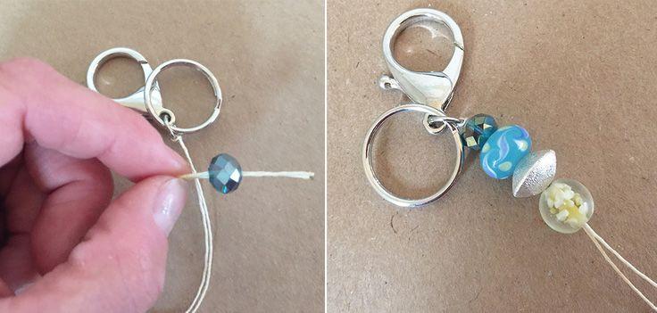 DIY tassel keychains with beads