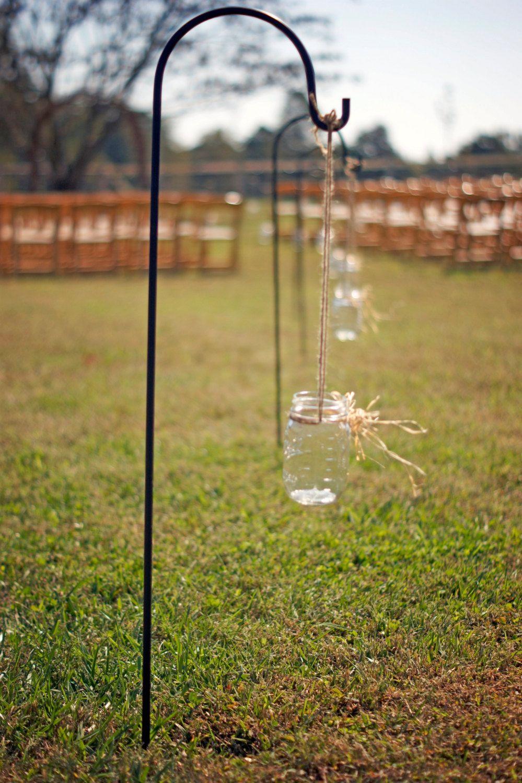 Set of 8 Hanging Mason Jars - Rustic Wedding Decor - Shabby Chic ...