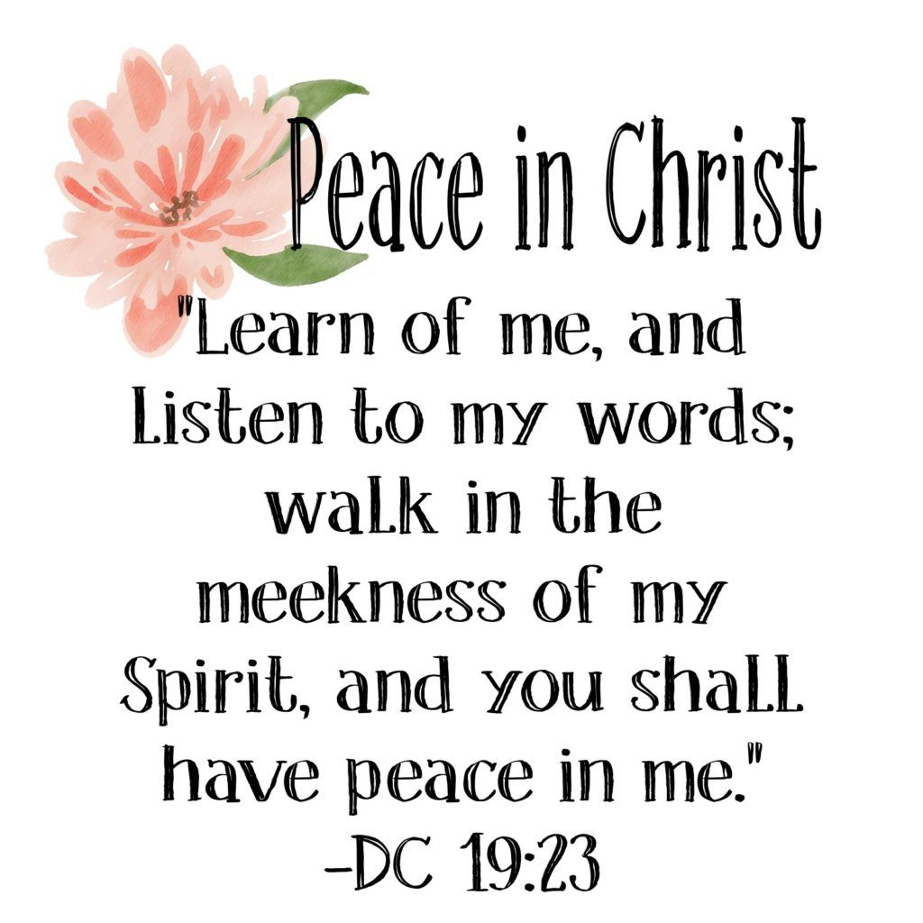 2018 Mutual Theme Peace In Christ Words To Live By Pinterest