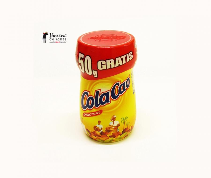 Cola Cao Original is popular for being a well accompaniment for your breakfasts and merienda. Mix it with hot milk or soya milk to make a creamy hot-chocolate drink.  A unique Spanish product very loved by millions of children (and not only children...) for its unmistakable flavour and texture.