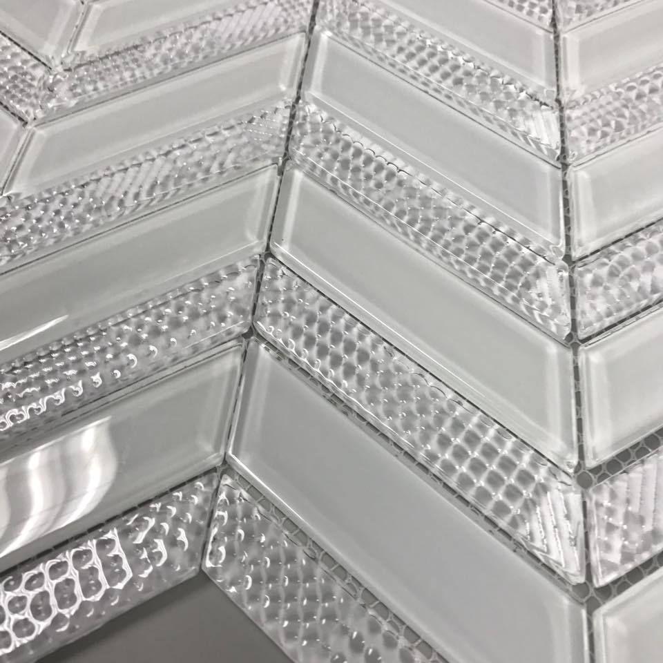 Discount Glass Tile Store Art Studio Axiom Chevron Glass Tile Ice Clearance Sale 6 49 Per Square Foot 6 49 Glass Tile Chevron Glass Studio Glass