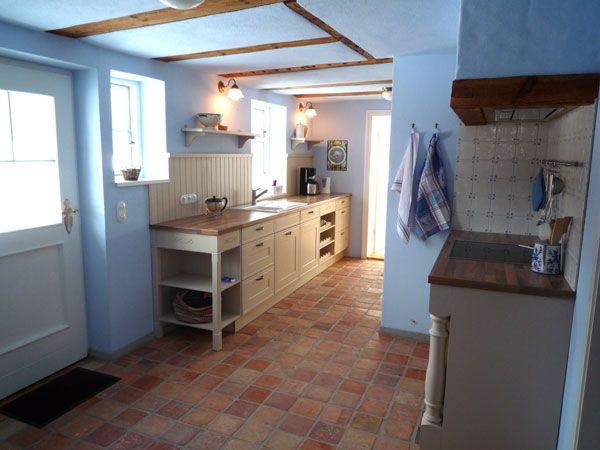 Küche ohne Oberschränke Ferienhaus, Haus, Alte eiche