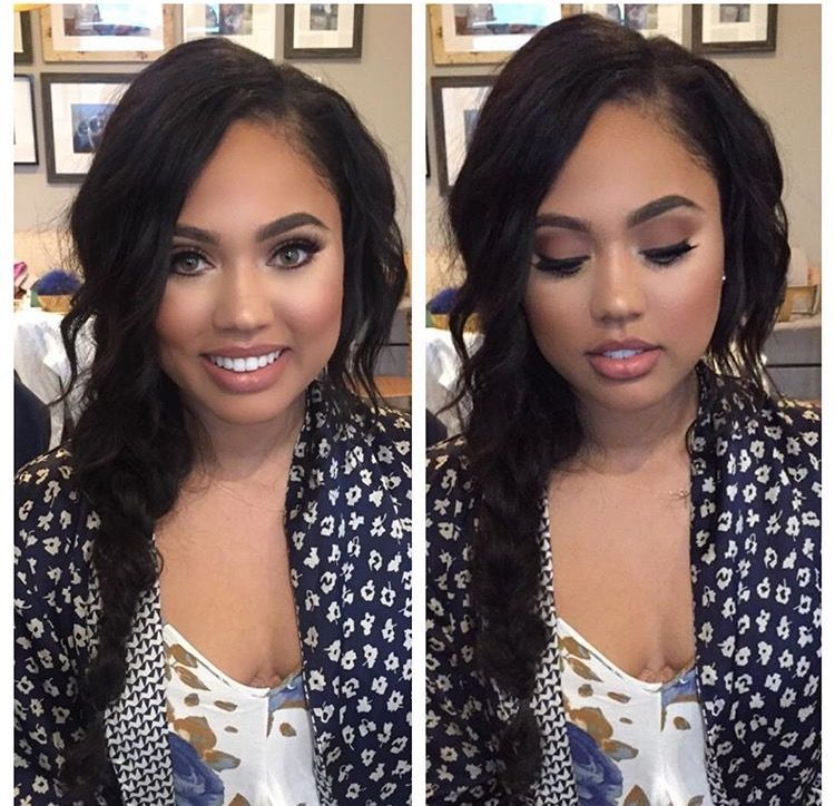 Ayesha Curry looking like a Barbie in beautiful nuetral makeup