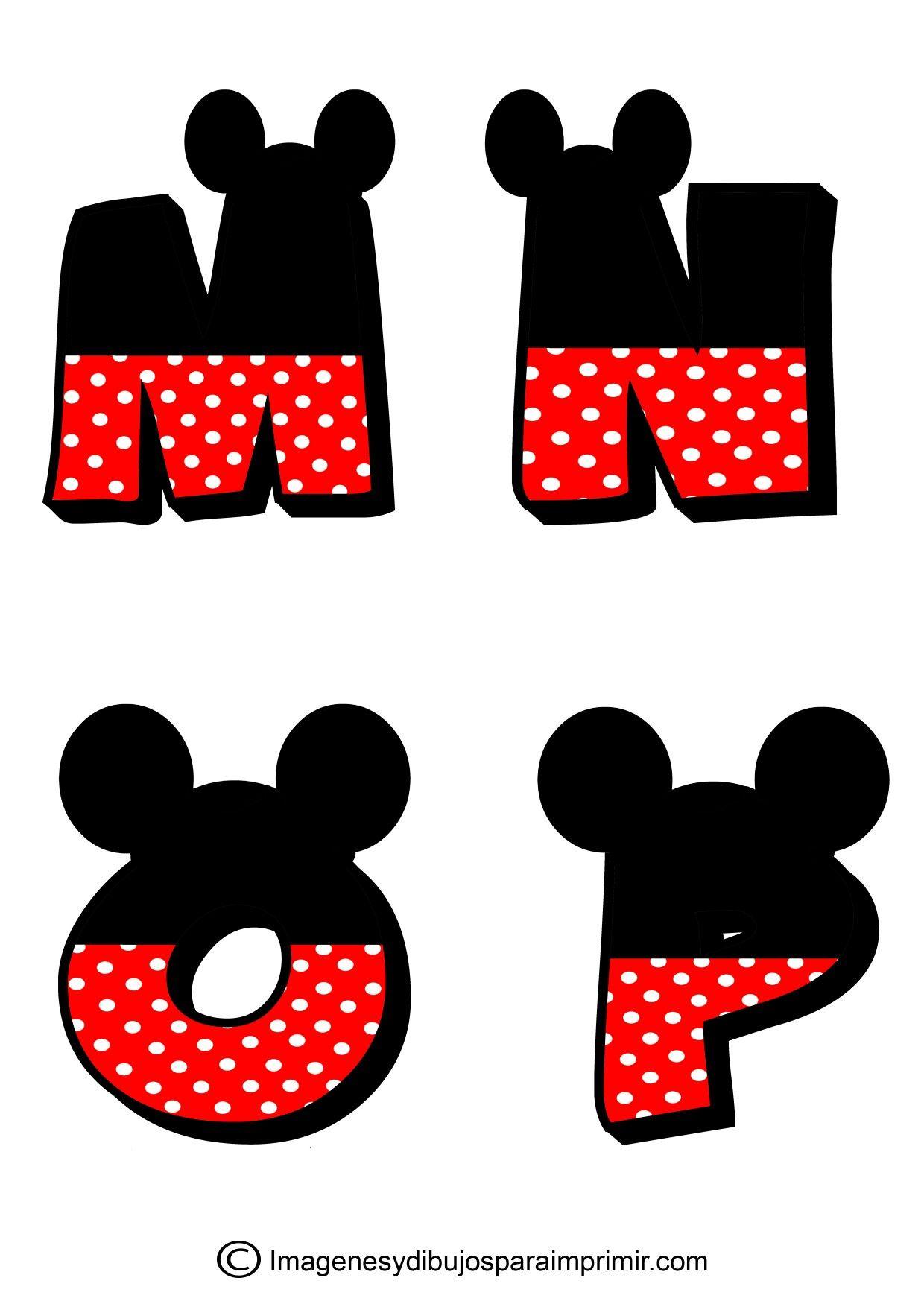 Letras Mickey | Molde | Pinterest | Disney scrapbook, Alphabet y ...