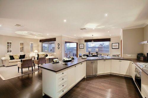 Open Kitchen Great Room Plans Open Kitchen Living Room Designs