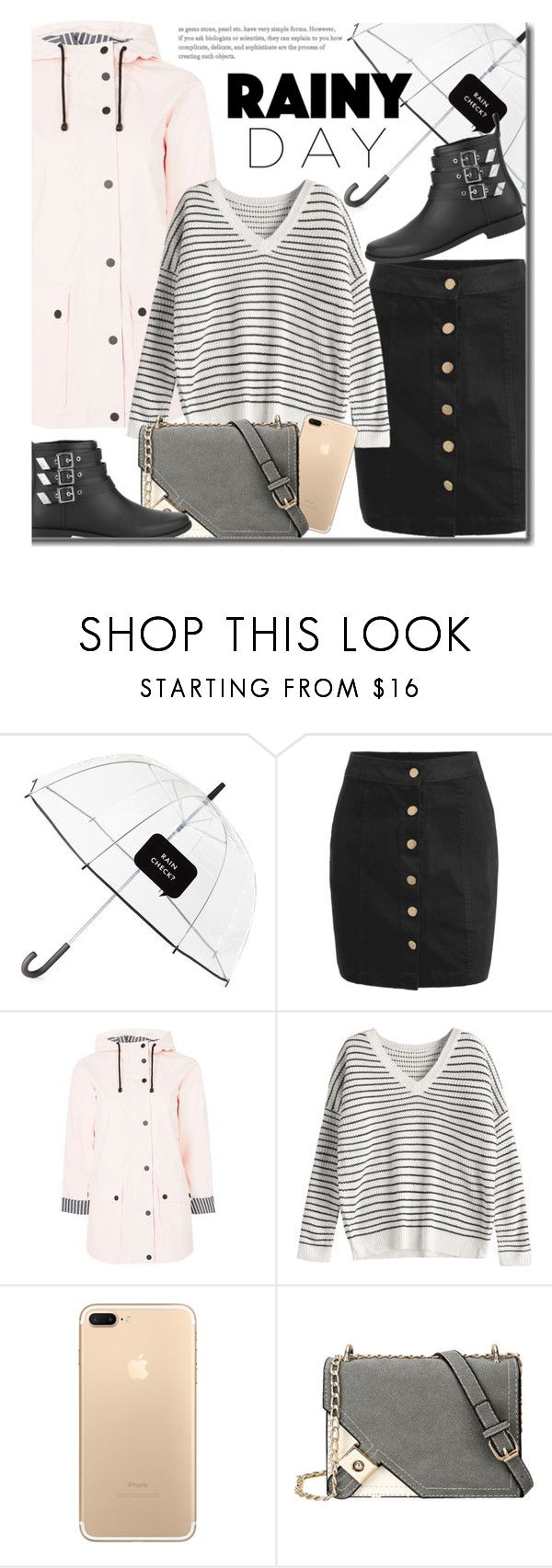 """Splish Splash: Rainy Day Style"" by justkejti ❤ liked on Polyvore featuring Kate Spade, Topshop, Loeffler Randall, StreetStyle, rainyday and zaful"