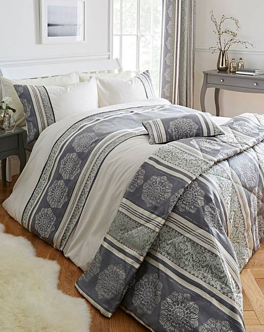 Kensington Jacquard Duvet Set House Of Bath With Images
