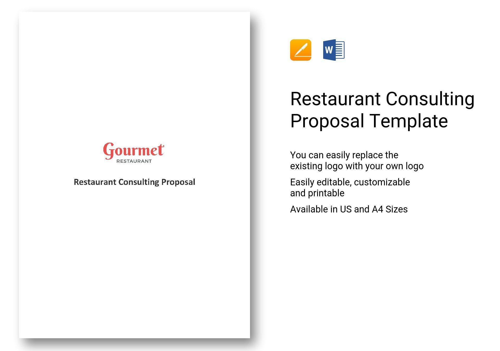 Restaurant Consulting Proposal Template Restaurant