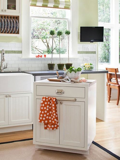 Small Space Storage Solutions. Rolling Kitchen ...