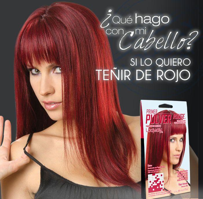 Increíble Color De Cabello Rojo Decolora Con Pulver Rouge De Loquay Que Permite Obtener Una Decol Color De Cabello Rojo Cabello Rojo Tonos Rojos Para Cabello