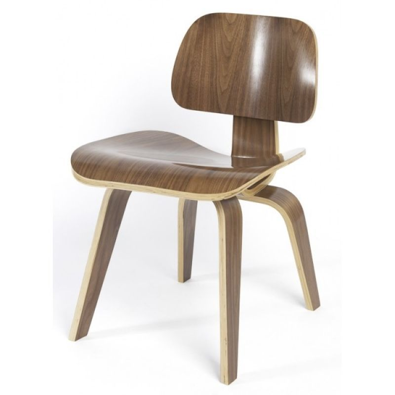 Black, White & Leather REPRO EAMES DCW WALNUT CHAIR