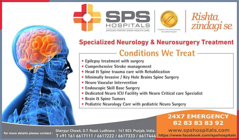 The Department of Neurosciences at SPS Hospitals Ludhiana