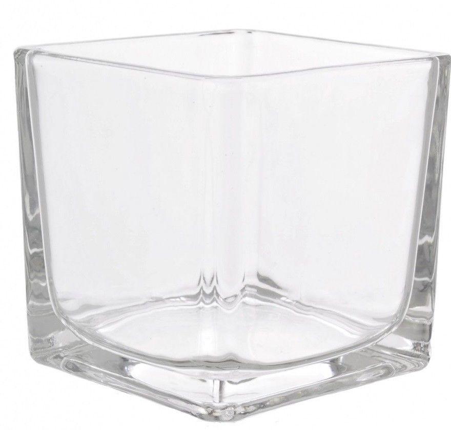 10cm Glass Cube Vase Small Square Glass Flower Vase Glass Flower