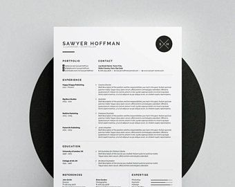 Sawyer ResumeCv Template  Word  Photoshop  Indesign