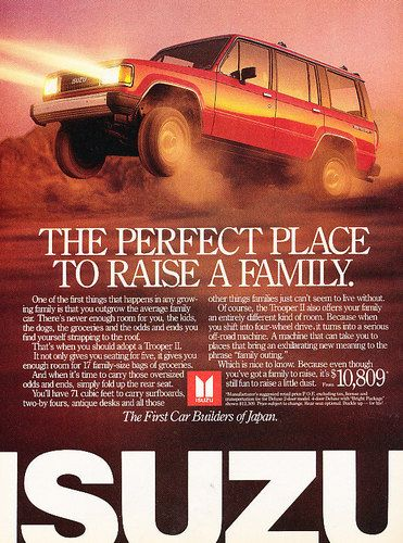 Isuzu Trooper Vintage advertisements, Hot rides, Ads