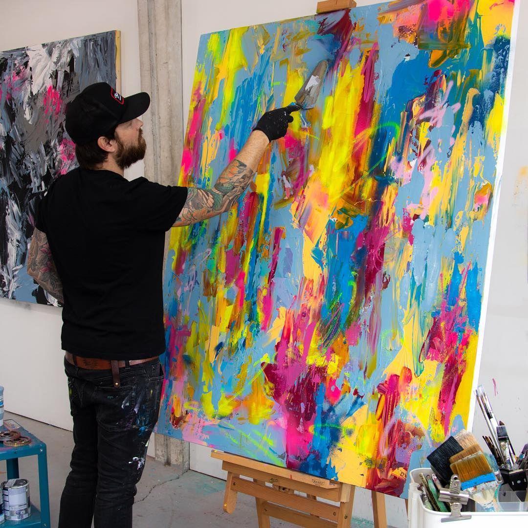 Ben allen on instagram working on new paintings in the