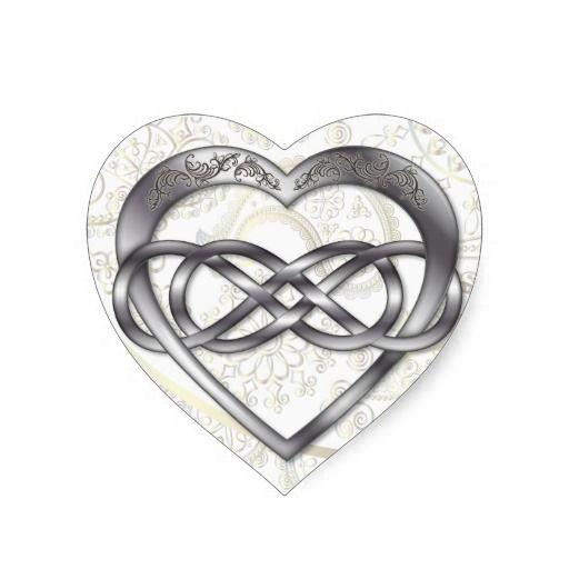 Double Infinity Heart Valentine Heart Sticker 1 Double Infinity