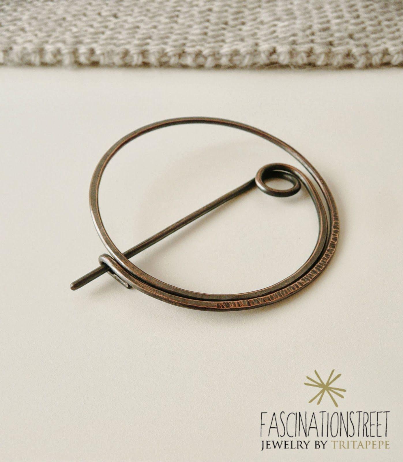 Fascinationstreet B-handmade: Fibel - spilla/fibula in rame e ...