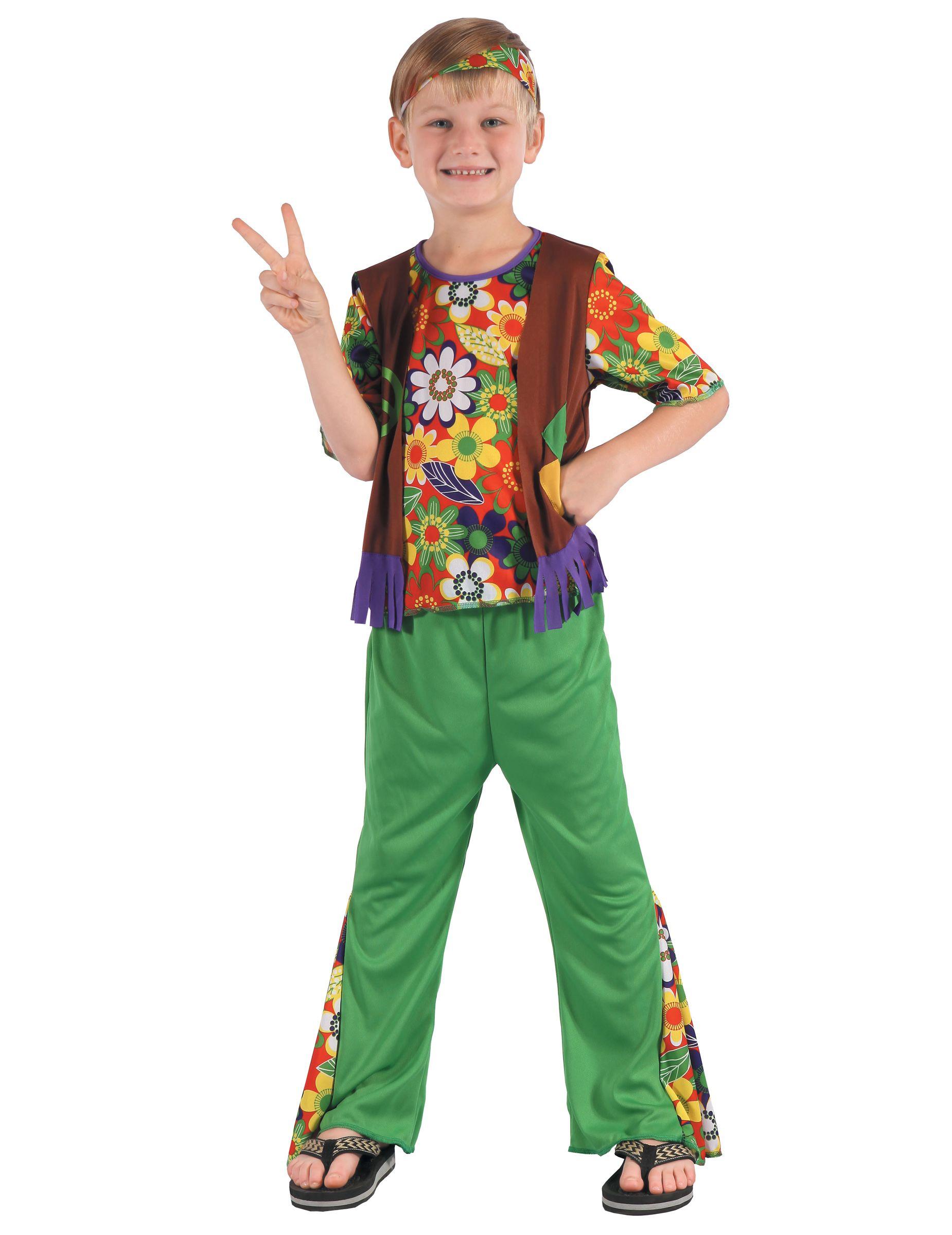 ad13e6fb7 Disfraz de hippie flower power niño en 2019 | Primavera | Disfraz de ...