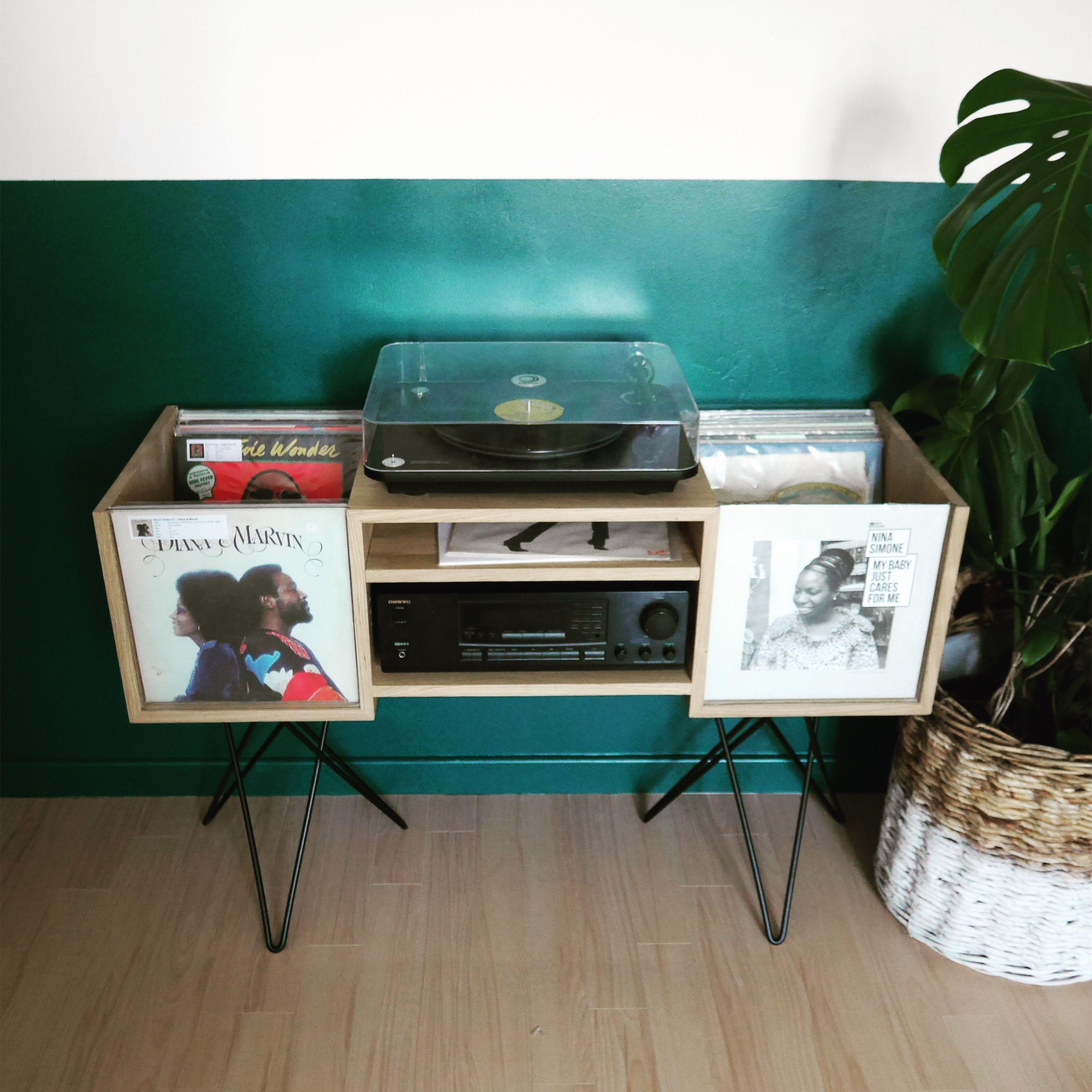 Epingle Sur Meuble Hi Fi Vinyl Record Storage