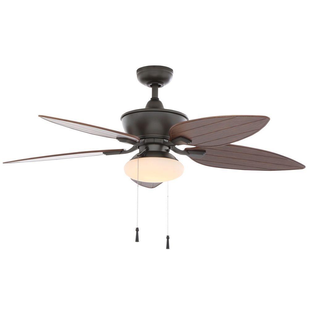 Hampton Bay Edgewater Ii 52 In Indoor Outdoor Natural Iron Ceiling Fan