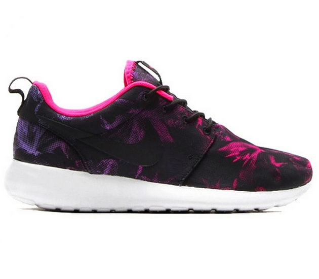 new concept 8642f 7e5d7 Nike WMNS Roshe Run – Black   White – Pink   Atomic Volt
