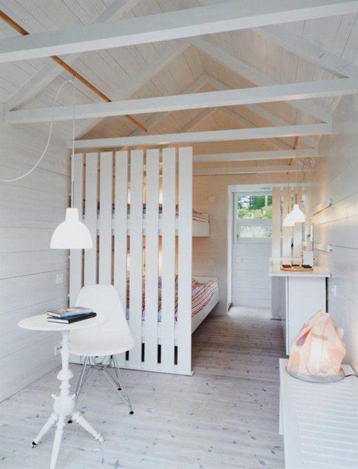 deco chambre mansardee interieur en bois clair joli amenagement
