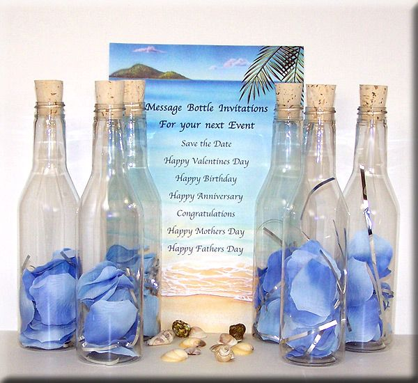 icanhappycom message in a bottle wedding invitations 10 weddinginvitations - Message In A Bottle Wedding Invitations