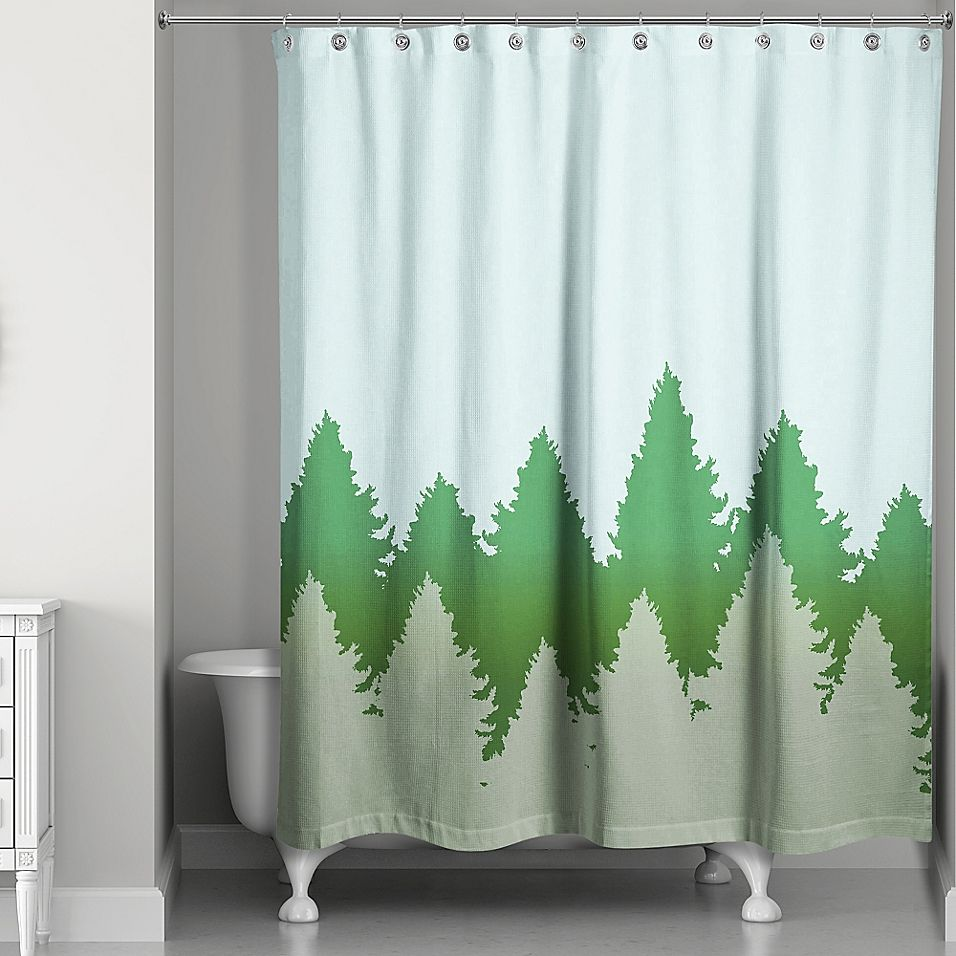 Amber Grove Apartments: Charming Pines Shower Curtain Green