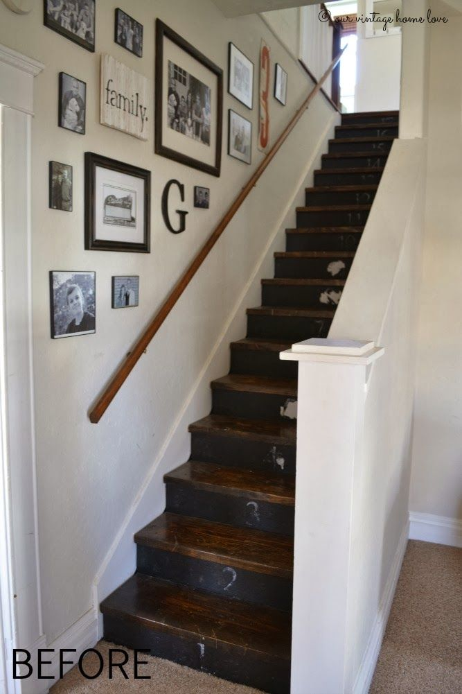 Best Our Vintage Home Love Staircase Remodel Stair 400 x 300